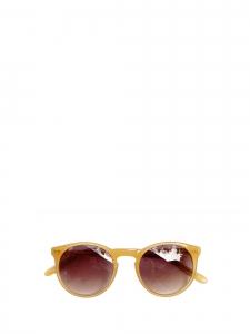 Lunettes de soleil P9 rondes monture jaune ambré verres fumés Prix boutique 260€ NEUVES