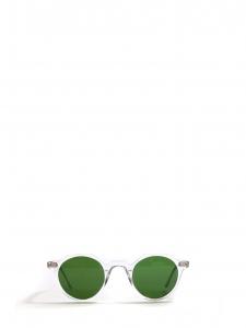 Lunettes de soleil LA PICA monture biseau transparente silver verres minéraux vert bouteille NEUVES Prix boutique 230€