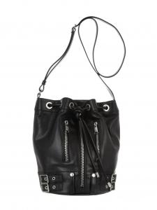Sac seau RIDER medium en cuir noir Prix boutique 1490€