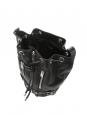 RIDER black leather shoulder bucket bag medium size Retail price €1490