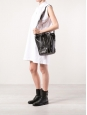 RIDER black leather shoulder bucket bag medium size Retail price €1490