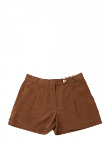 Caramel brown linen shorts Retail price €300 Size M/L
