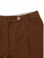 Caramel brown linen shorts Retail price €300 Size M/L