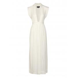 Robe SACHI longue en voile de coton blanc décolleté plongeant Prix boutique 920€ Taille 36