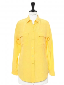 Signature yellow silk shirt Retail price €220 Size 36