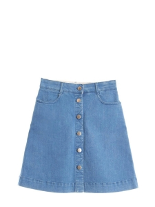 Ultra blue denim buttoned skirt Retail price €345 Size 36