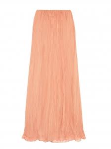 Beige pink plissé-chiffon maxi skirt Retail price €1500 Size 36/38