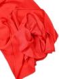Robe évasée sans manches en crêpe rouge coquelicot Prix boutique 600€ Taille 36