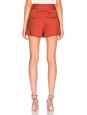 MAKAYLA red linen high waist shorts with belt Retail price €325 SIze XS