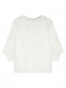 Top manches courtes en dentelle guipure blanche Prix boutique 1480€ Taille 34 à 36