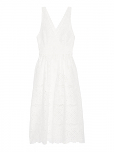 White guipure lace sleeveless midi dress Retail price €250 Size 1