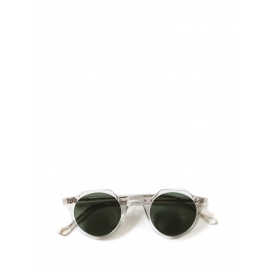HERI Crystal clear frame sunglasses with grey green polarising lenses Retail price €390 NEW
