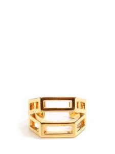 BIANCA Golden brass cuff bracelet Retail price €420 Size S