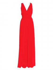 Bright red open back cross straps maxi dress Retail price €350 Size XS