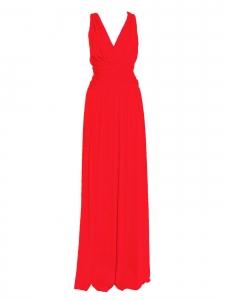 Robe de soirée longue bretelles croisées dos nu rouge vif Prix boutique 350€ Taille XS