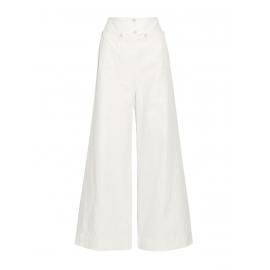 Pantalon large LIONEL en sergé flammé écru Prix boutique 550€ Taille 38