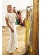 Pantalon large LIONEL en sergé flammé écru Prix boutique 550€ Taille 36
