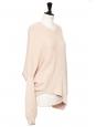 Pull col rond en maille rose blush et rouge Prix boutique 750€ Taille 34