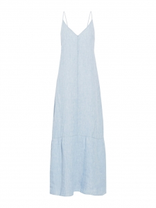 Maureen light blue linen chambray maxi dress Retail price €240 Size XS