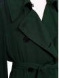 Lucie black satin-twill maxi trench coat NEW retail price €750 Size 36/38