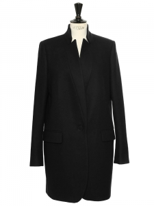 BRYCE navy blue wool and cashmere coat Retail price €1340 Size L