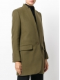 Manteau veste BRYCE en laine mélangée vert kaki Prix boutique 1095€ Taille 36