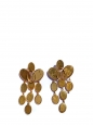 Medallion pendant earrings in brass with gold finish Retail price €590