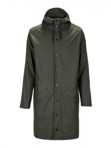 RAINS Khaki green long rain coat Retail price €95 Size S