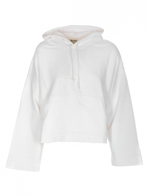 Joghy emboss white cotton hooded sweater Retail price €260 Size L