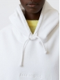 Joghy emboss white cotton hooded sweater Retail price €260 Size M