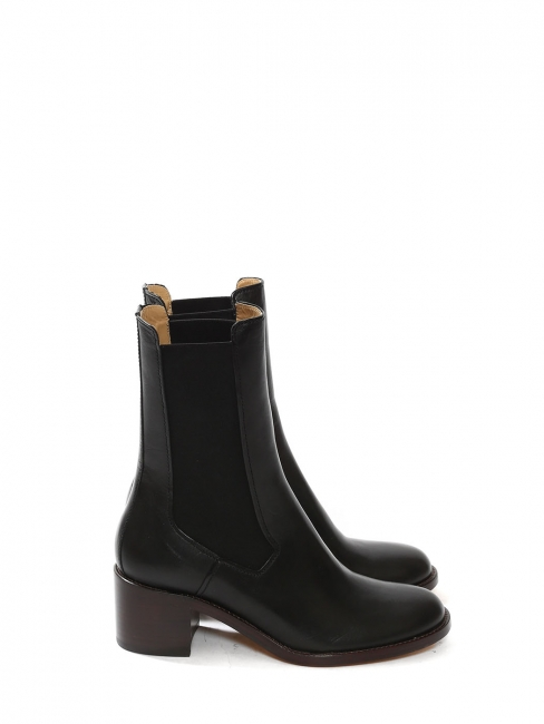 NICOLE black leather low heel chelsea boots Retail price 455€ Size 37