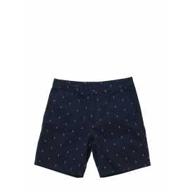 Dark navy and white anchor printed cotton men's shorts Size 30