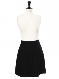 Black wool high waist A-line skirt Retail price €200 Size XS