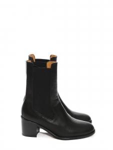 Bottines boots NICOLE en cuir noir à talon bas NEUVES Px boutique 530€ Taille 37