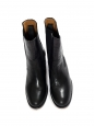NICOLE black leather low heel chelsea boots Retail price 530€ Size 39