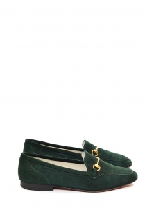 Hunter green suede leather flat loafers Retail price €450 Size 36.5