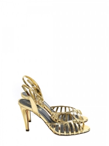 BELINDA Copper gold cutout leather ankle strap open toe sandals NEW Retail price €420 Size 39