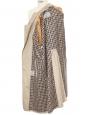 Trench mi-long ceinturé en coton beige doublure écossaise Prix boutique 820€ Taille 40