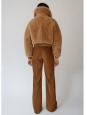 ACNE STUDIOS Veste shearling jacket LINNE TEDDY BEAR en mouton camel Prix boutique 2322€ Taille 36