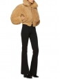 Veste shearling jacket LINNE TEDDY BEAR en mouton camel Prix boutique 2322€ Taille 36