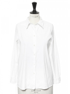 White cotton popeline shirt Retail price €590 Size 36