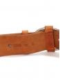 Ceinture large en cuir camel clair et boucle argent Prix boutique 250€ Taille S