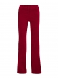 CLARET Satin-trimmed red cotton-blend velvet bootcut pants Retail price €145 Size US 6
