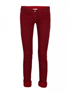Black and red striped cotton jeans Retail price 200€ Size 3 or 40