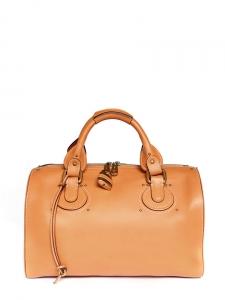 Sac duffle bag Aurore en cuir camel cognac Px boutique 1500€