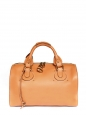 Camel brown leather AURORE duffle bag Retail price $1800