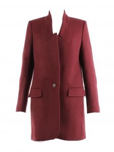 Manteau veste BRYCE en sergé de laine rouge bordeaux Prix boutique 1095€ Taille 36