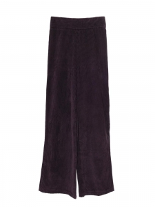 Prune purple corduroy high waist wide leg pants Retail price €590 Size XS