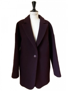 MM6 Burgundy prune wool blend oversized coat Retail price €590 Size S to M