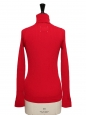 Bright red ribbed wool turtleneck sweater Retail price €690 Size XS